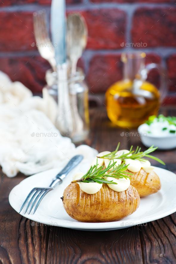 baked potato - Stock Photo - Images