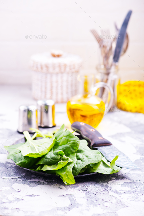 raw spinach - Stock Photo - Images
