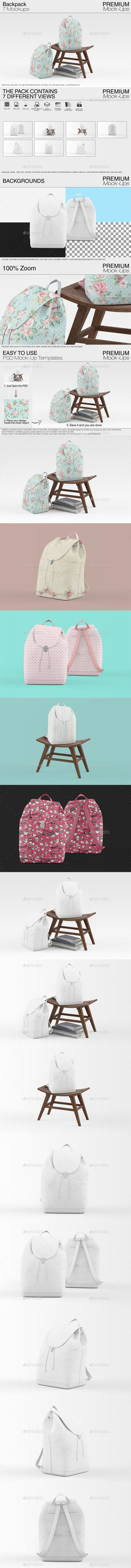 Backpack Mockups - Miscellaneous Apparel