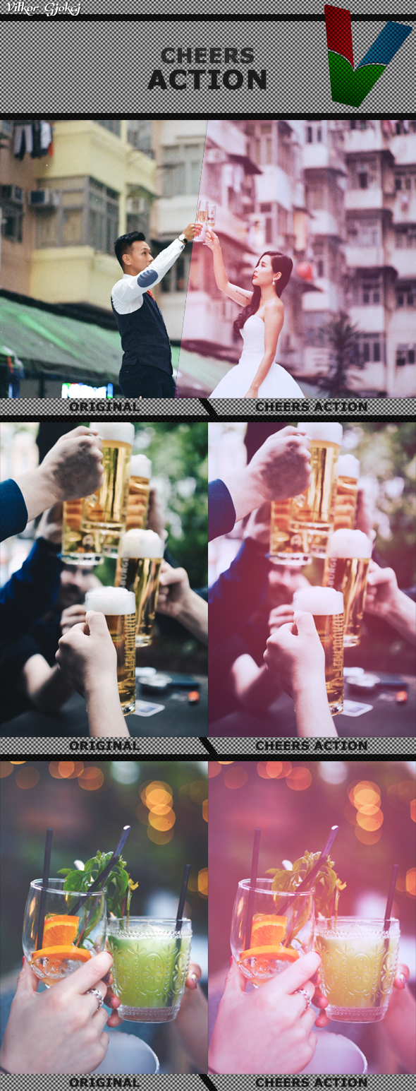 Cheers Action 1 - Photo Effects Actions