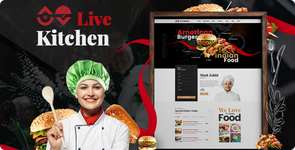 Livekitchen | Restaurant Cafe WordPress Theme