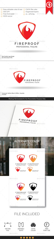 Fireproof / Protection - Logo Template - Symbols Logo Templates
