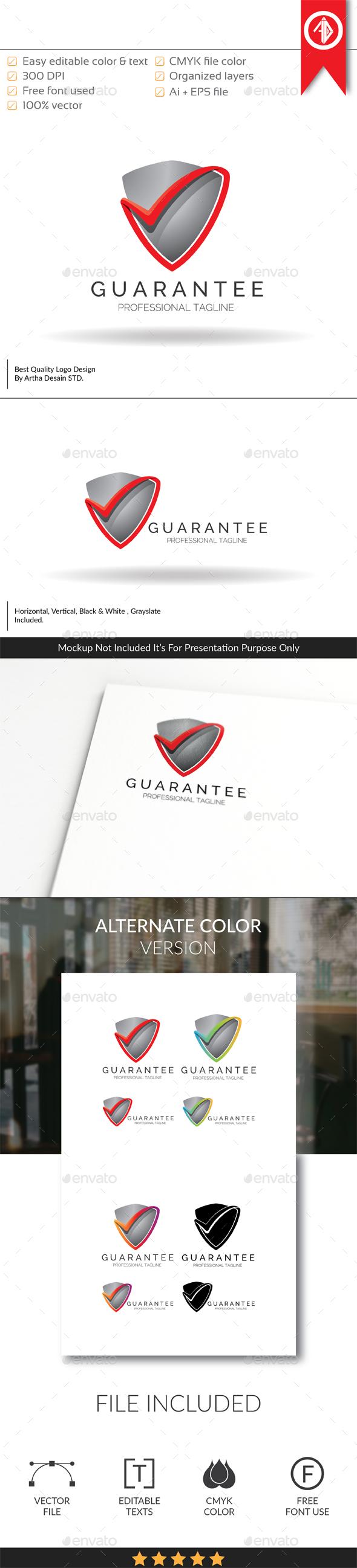 Guarantee / Shield Protection - Logo Template - Symbols Logo Templates
