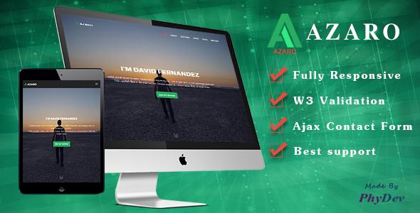 AZARO - Minimal Portfolio Responsive HTML5 Template - Portfolio Creative