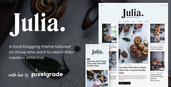 Download Julia – A Steady Food Blog WordPress Theme