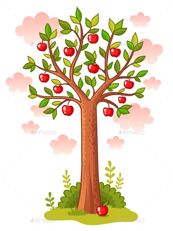 Apple Tree Stands in the Meadow - Flowers & Plants Nature