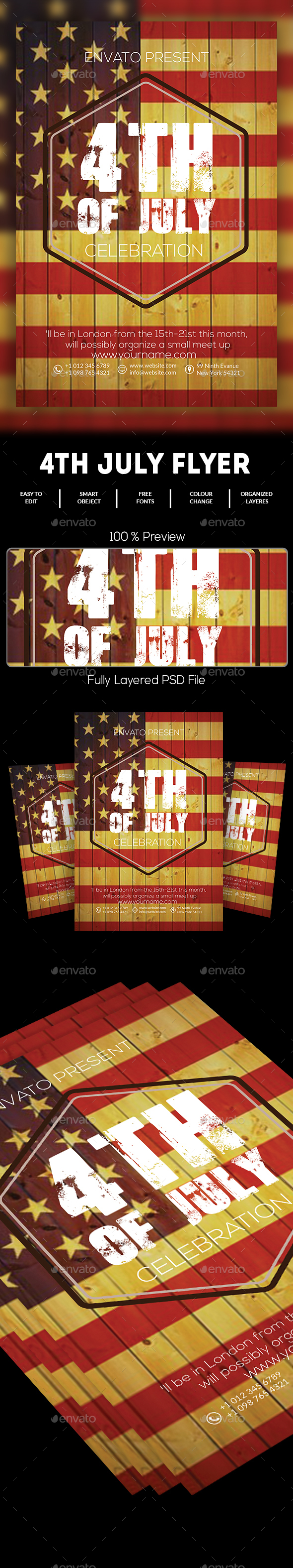 4th of july menu template - 4th july flyer template by dhingra graphicriver