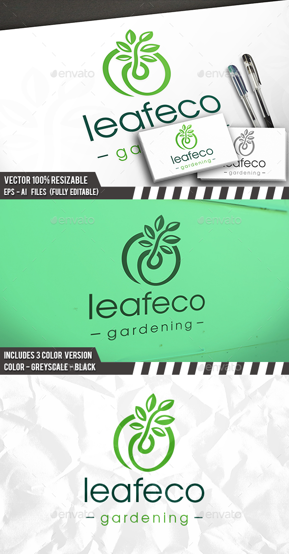 Green Plant Grow Logo - Nature Logo Templates