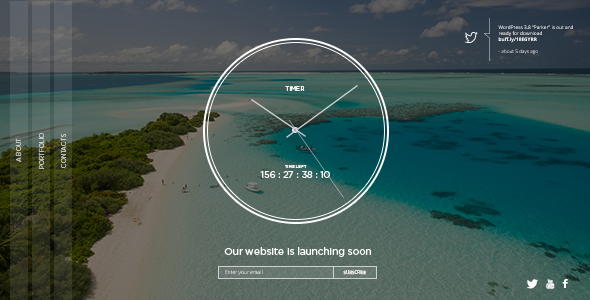 Image of TIMER: Responsive Countdown Clock Landing Page