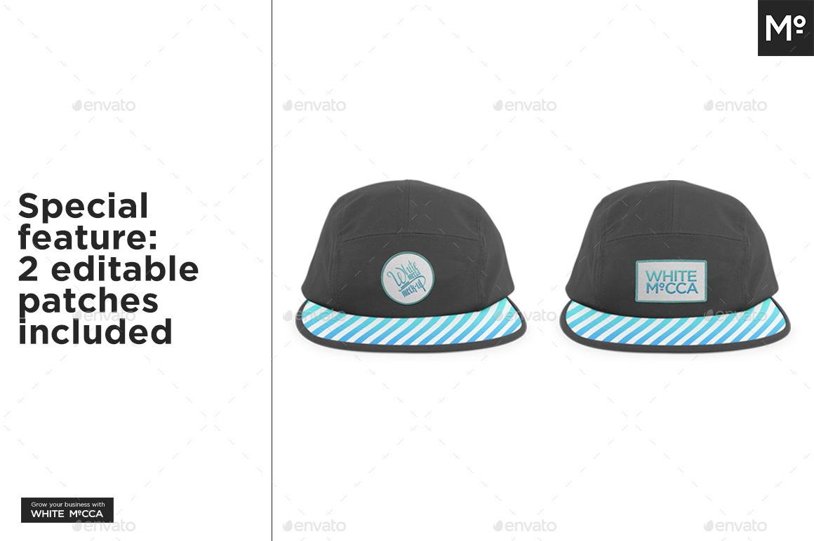 strapback cap camp hat mock up by mocca2go graphicriver