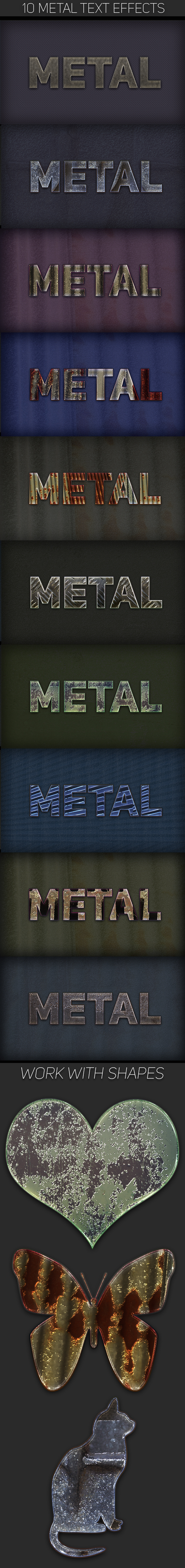 Metal Text Effects - Text Effects Styles