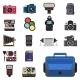 Camera Photo Optic Lenses Set Different Types
