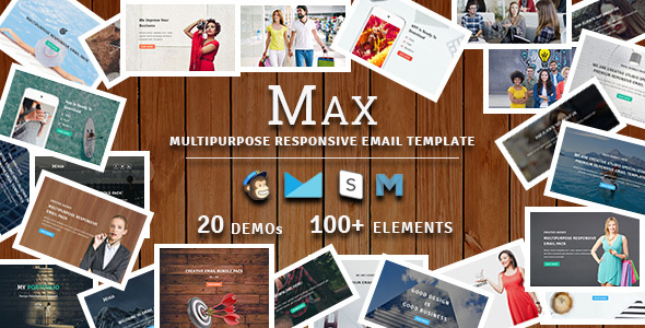MAX - Multipurpose Responsive Email Pack - Newsletters Email Templates