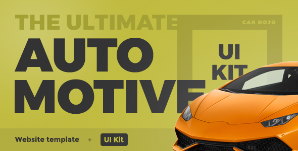 Car Dojo - The Ultimate Auto Dealers Marketplace & Rental Parks HTML UI Kit Website Template