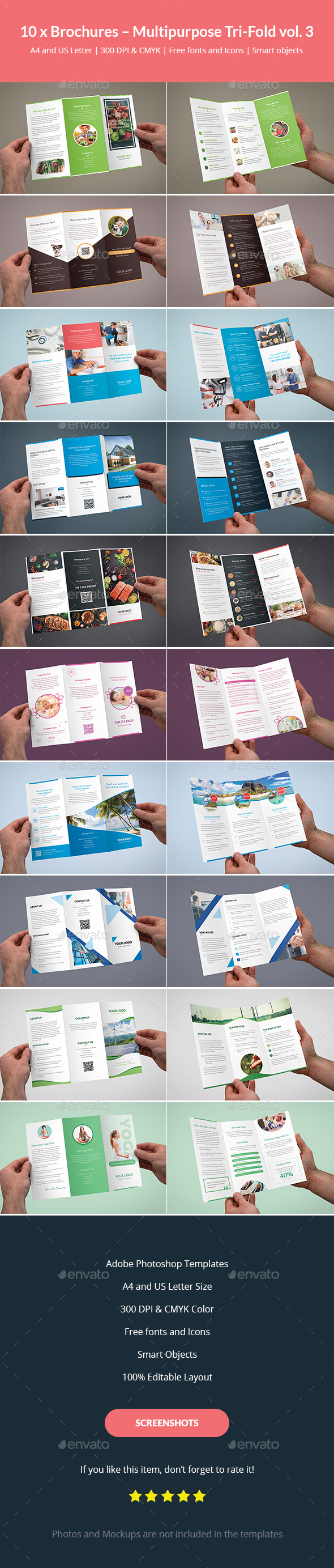 Brochures – Multipurpose Tri-Fold Bundle vol. 3 - Corporate Brochures