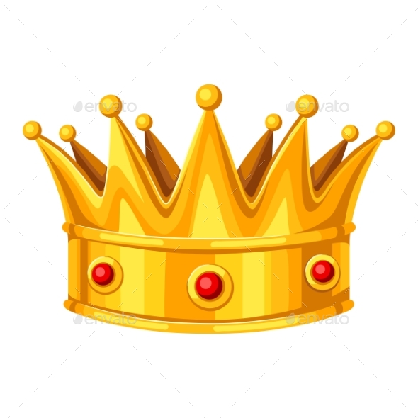 Gold Crown with Red Rubies - Sports/Activity Conceptual
