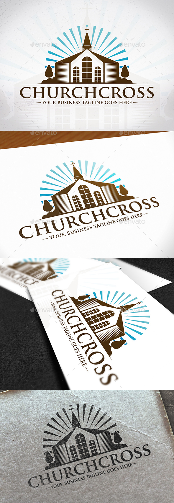 Cross Church Creative Logo - Buildings Logo Templates