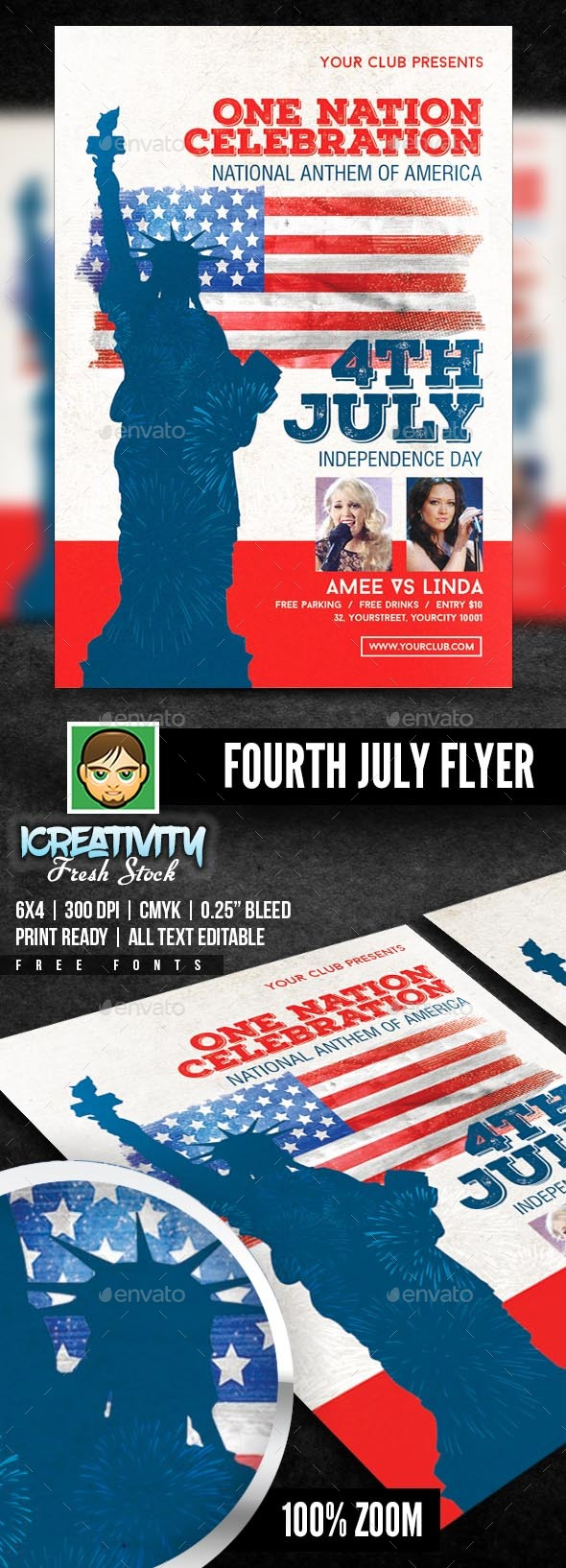 Fourth of July Flyer - Flyers Print Templates