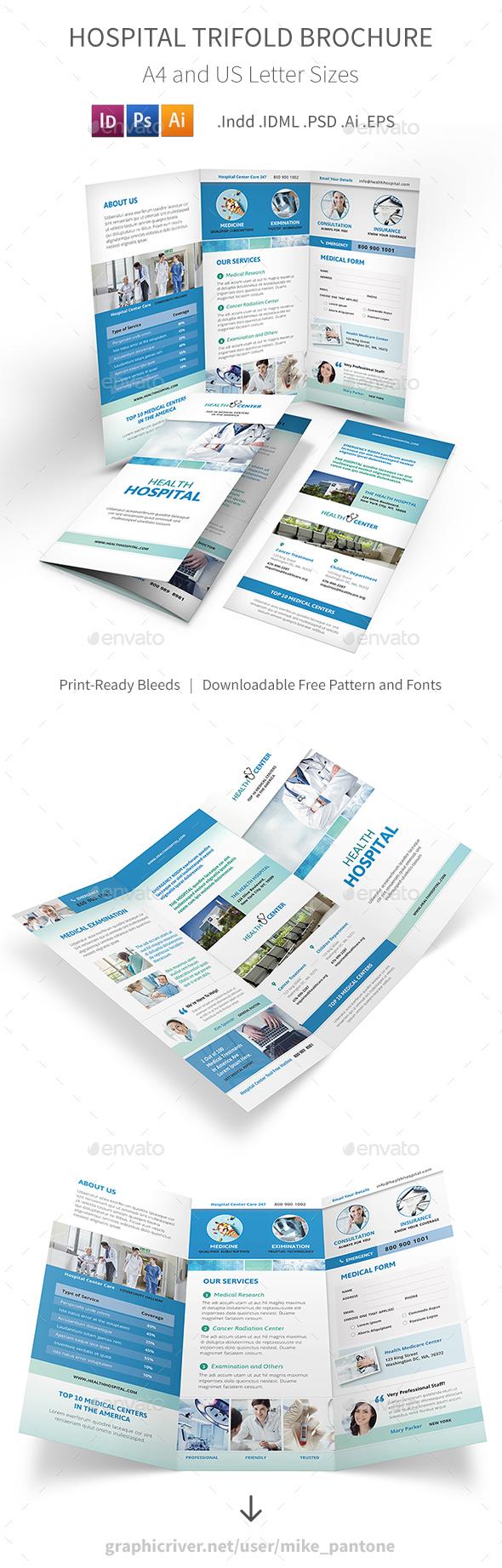 Hospital Trifold Brochure - Informational Brochures