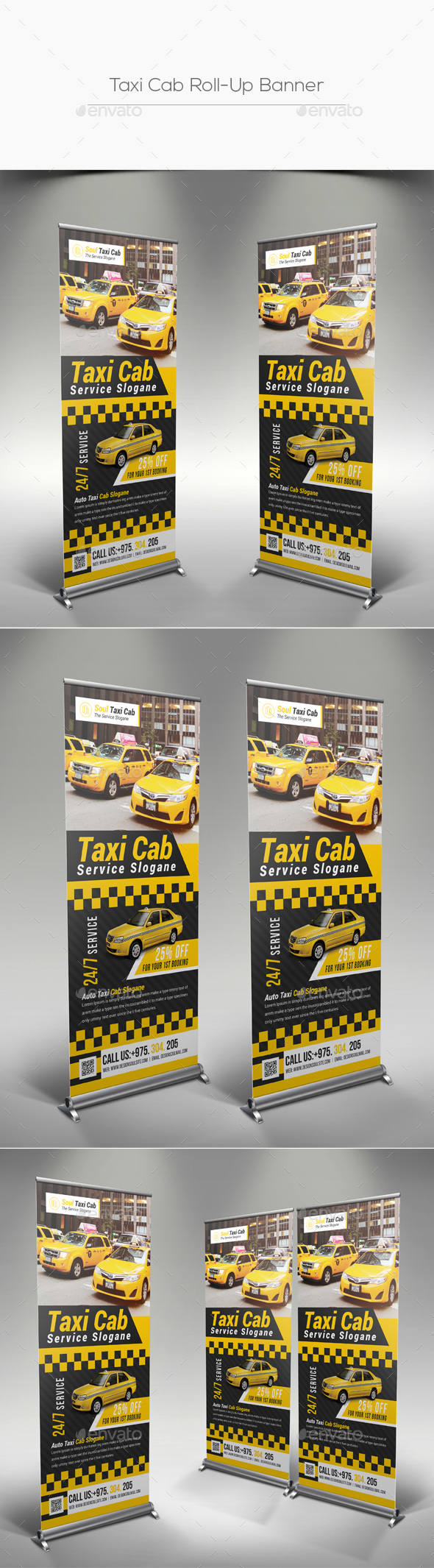 Taxi Cab Roll-Up Banner - Signage Print Templates