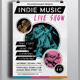 Indie Music Live Show Flyer - GraphicRiver Item for Sale