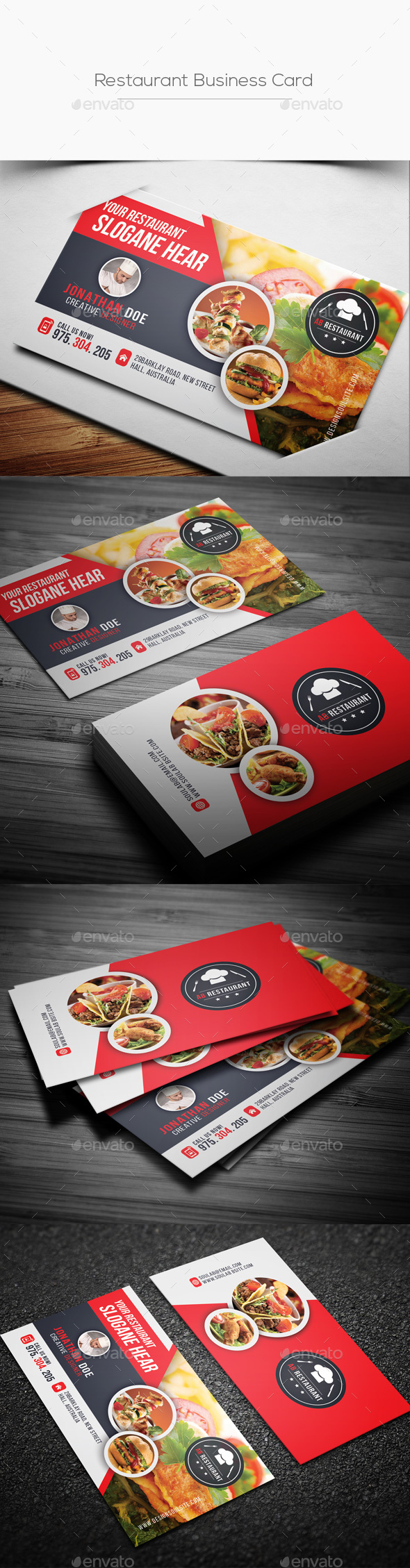 Restaurant Business Card - Industry Specific Business Cards