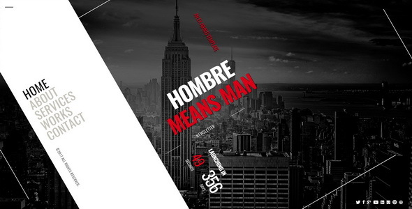Hombre || Responsive Coming Soon Page - Under Construction Specialty Pages
