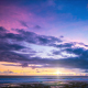 Fiery Sunset In The Blue Sky Over The Ocean - VideoHive Item for Sale