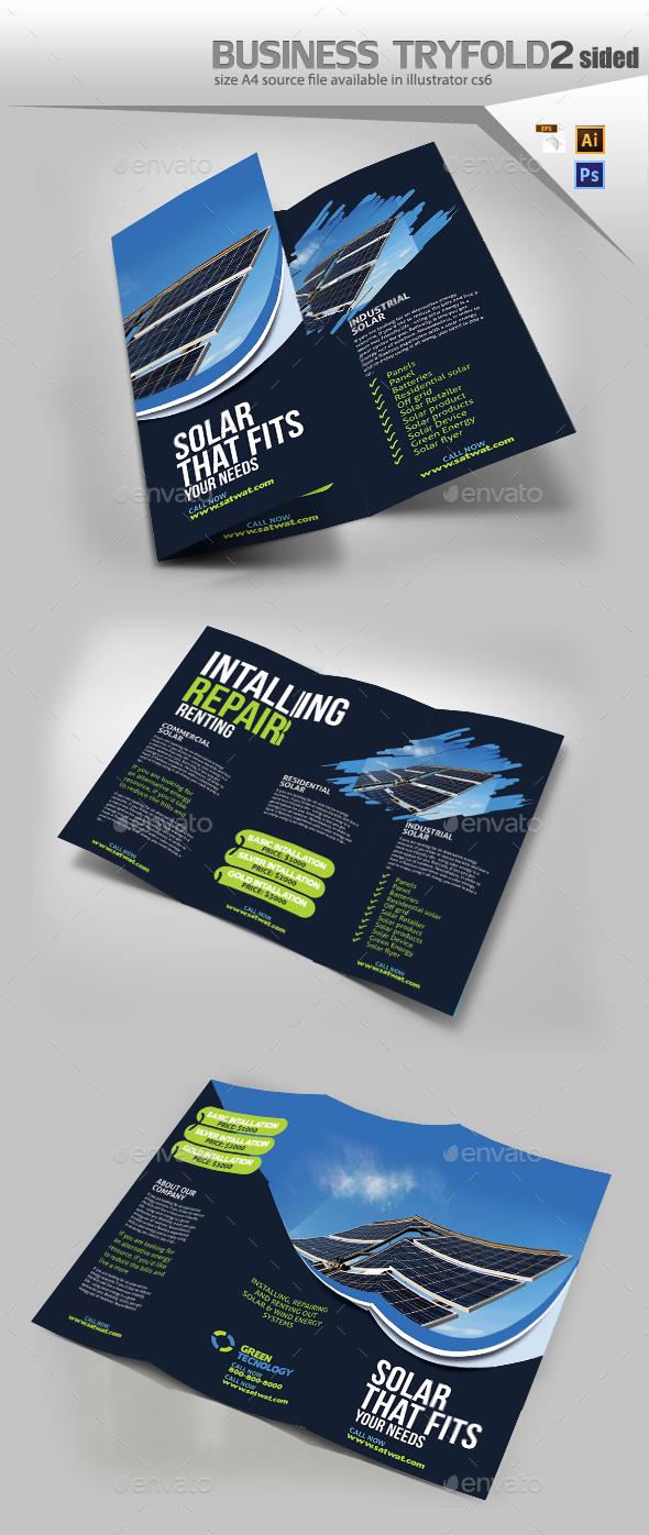 Solar Tri Fold Brochure - Brochures Print Templates