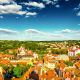 Vilnus Old City And Clouds Top View - VideoHive Item for Sale