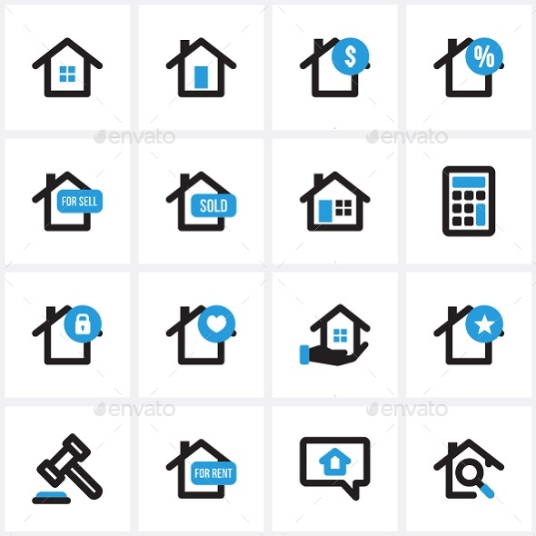 Real Estate Icon Pack - Buildings Objects