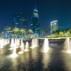 Night Fountain in the Business District of Dubai, UAE - VideoHive Item for Sale