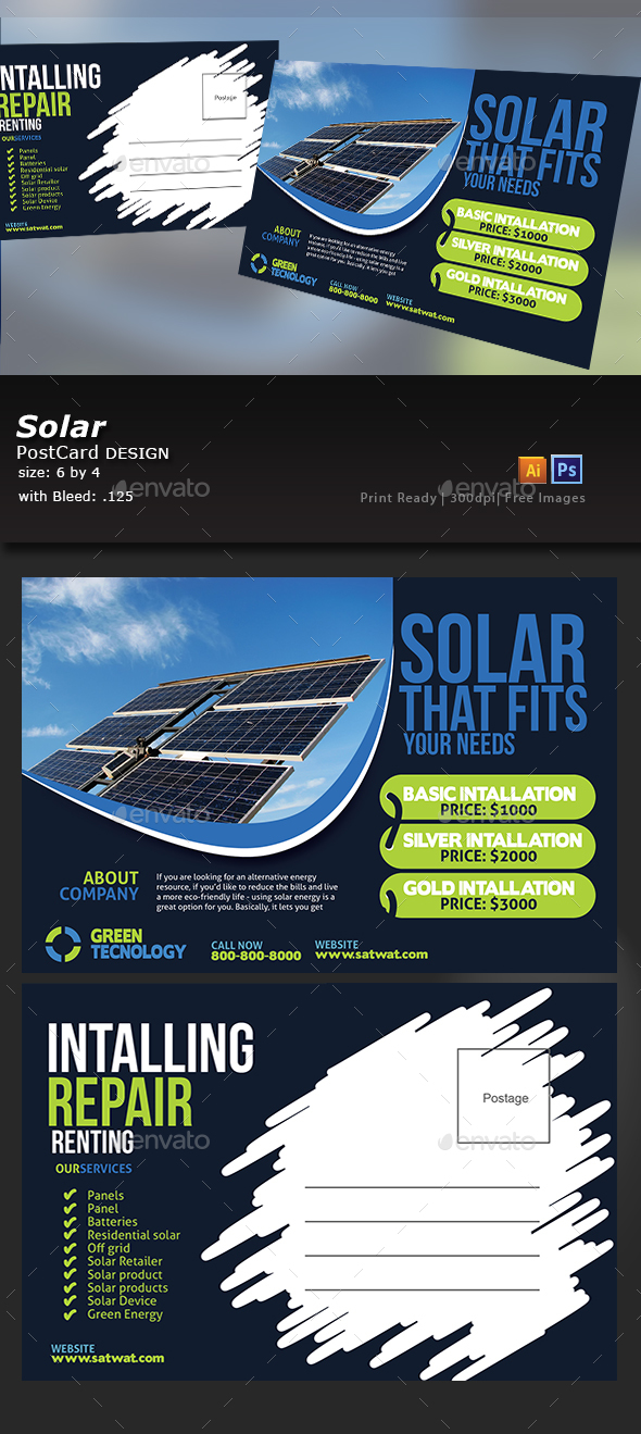 Solar Post Card - Corporate Flyers