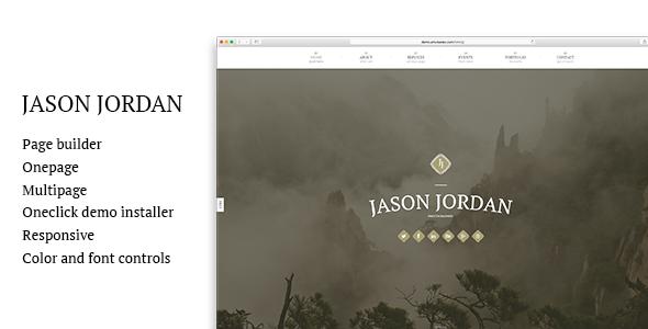JJ - One Page Parallax WordPress Theme