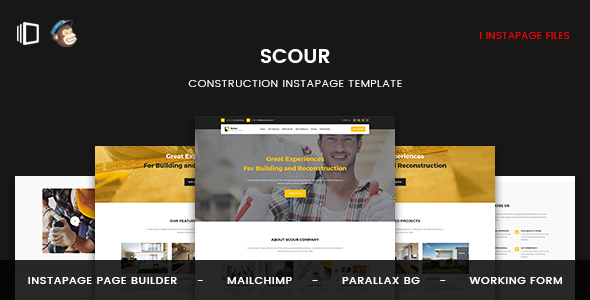 Scour - Construction Instapage Template