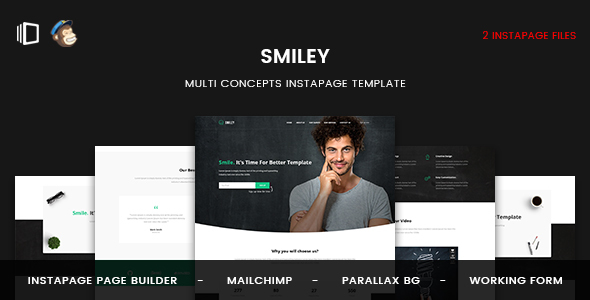 Smiley - Multi Concepts Instapage Template