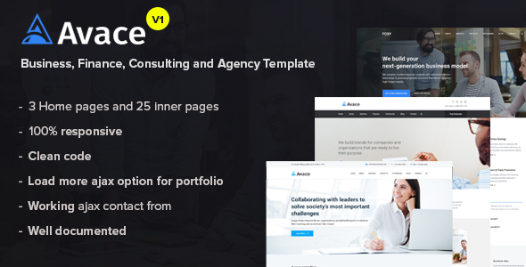 Avace - Business, Finance, Consulting and Agency Template