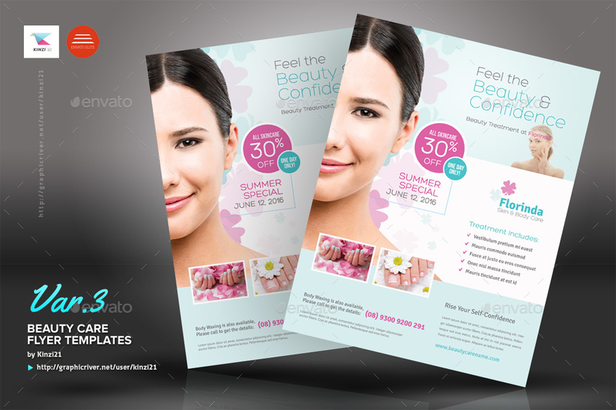 Beauty Care Flyer Templates By Kinzi21 | Graphicriver