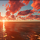 Fly Over Sea Sunset - VideoHive Item for Sale