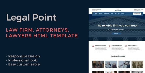Legal Point - Law Firm, Attorney, Lawyers HTML Template - Business Corporate