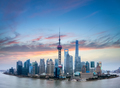shanghai skyline with burning clouds - PhotoDune Item for Sale