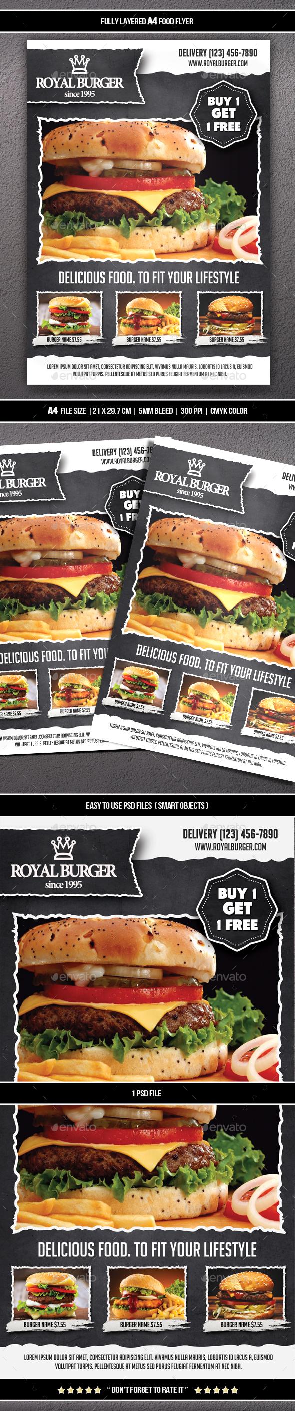 Food Flyer 9 (A4) - Restaurant Flyers