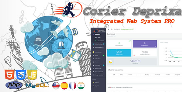 Courier Deprixa Pro - Integrated Web System v3.2.4 - CodeCanyon Item for Sale