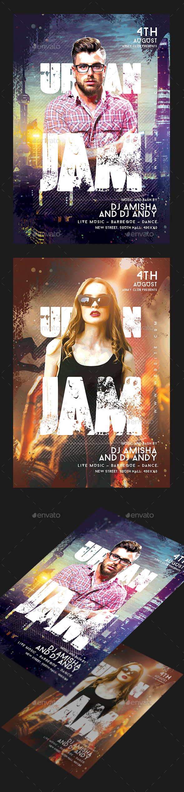 Urban Jam Party Flyer - Clubs & Parties Events