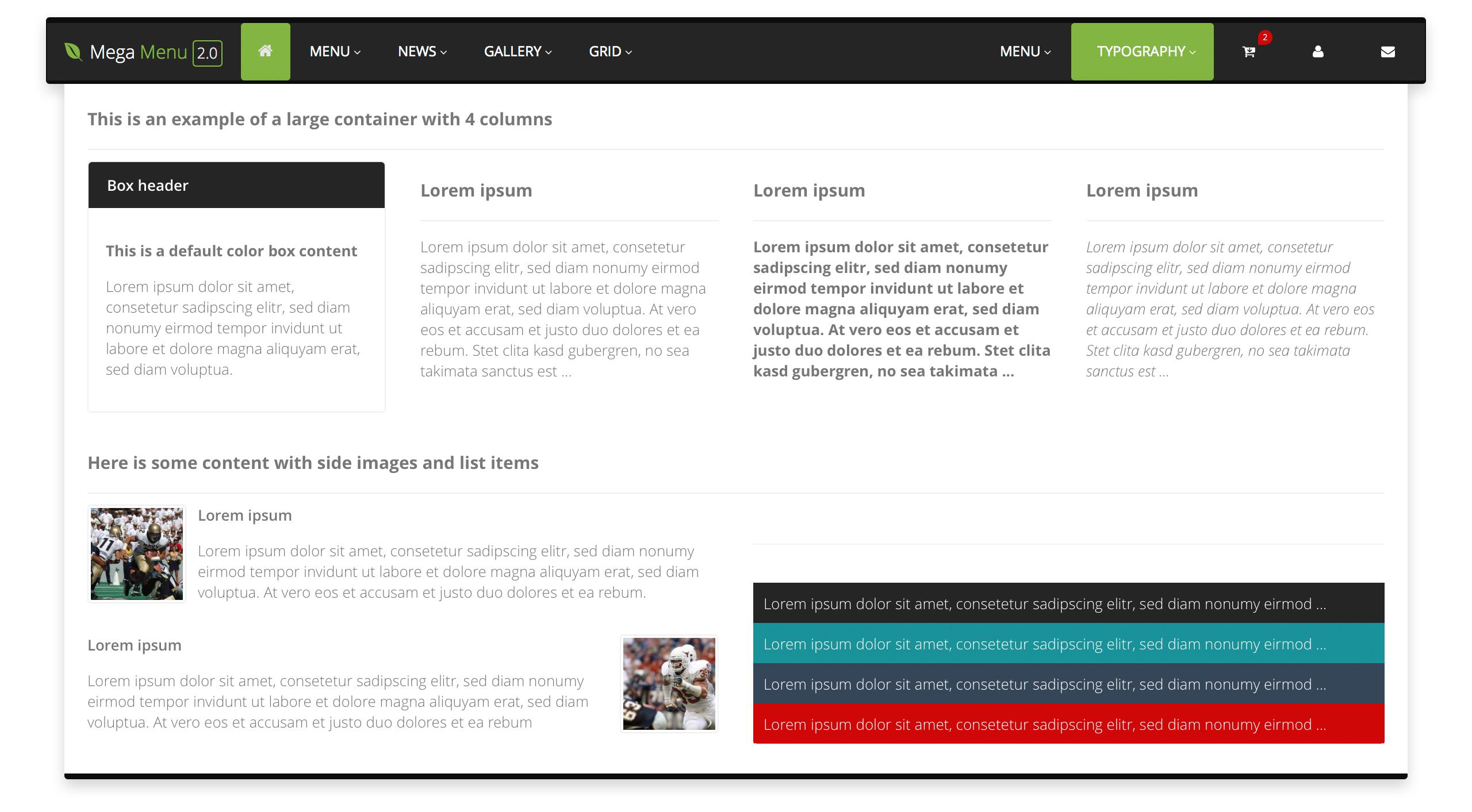 Mega Menu Responsive Mega Navbar For Bootstrap By Mm