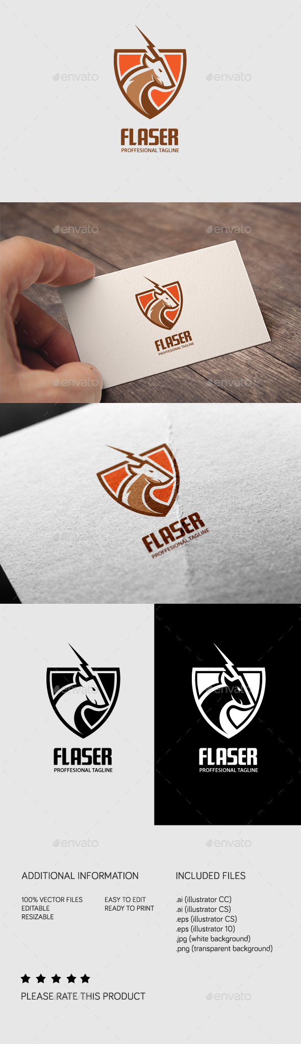 Flaser Logo - Animals Logo Templates