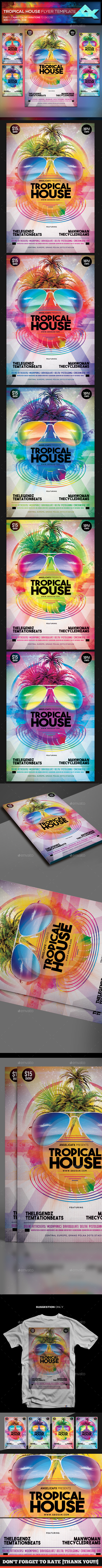Tropical House Flyer Template - Events Flyers