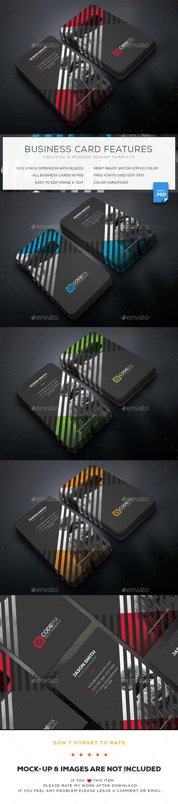 Photography business card by uxcred graphicriver photography business card business cards print templates magicingreecefo Gallery