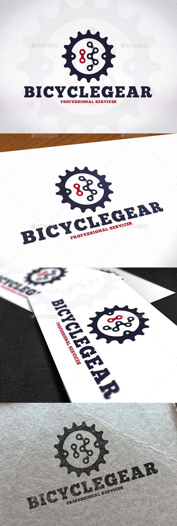 Bicycle Gear Logo Design - Letters Logo Templates