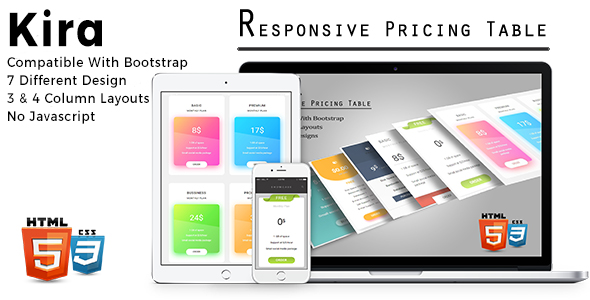 Kira - Responsive Pricing Tables - CodeCanyon Item for Sale